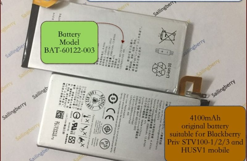 Battery Blackberry Priv STV100-1/2/3 and HUSV1 model BAT-60122-003